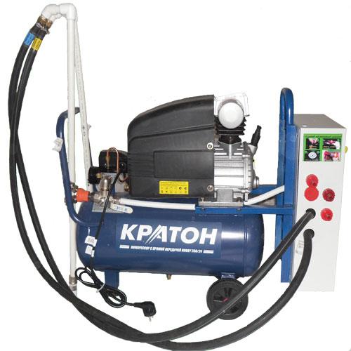 Основные отличия нашей установки от других: cмешивание происходит при высоком давлении (5–7) атмосфер; малый расход воды (5–15 литров — в зависимости от плотности материала) производительность установки зависит от применяемого компрессора.